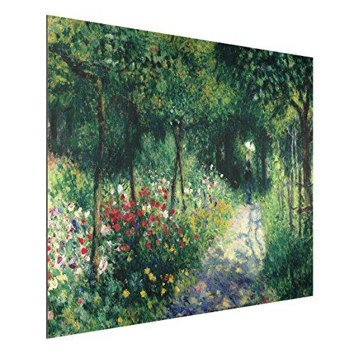 Bilderwelten Alu-Dibond - Kunstdruck Auguste Renoir - Frauen im Garten - Impressionismus Quer 3:4, Aluminium Print Wandbild Alu-Bild Wall Art, Größe HxB: 60cm x 80cm