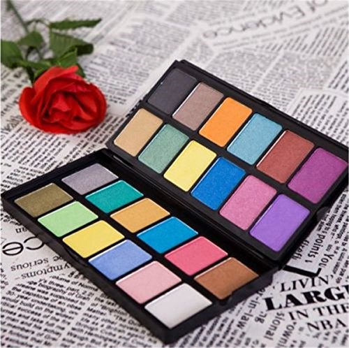 PhantomSky 24 Colores Sombra De Ojos Paleta de Maquillaje Cosmética - Perfecto para Uso Profesional y Diario