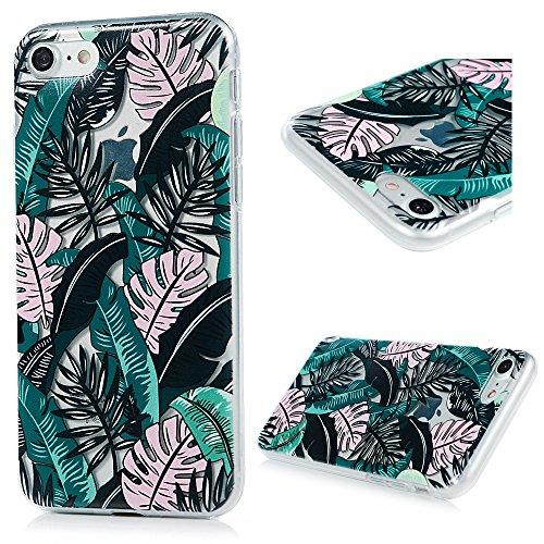 iPhone 7 Funda TPU Silicona Suave Ultra Delgada Transparente,YOKIRIN Carcasa Pintada Cubierta Dibujos Case para iPhone 7 4.7 Pulgadas Completa Protección para Choques - Hoja 1