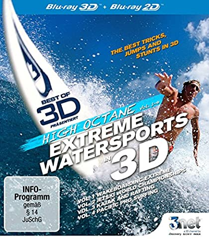 Best of 3D - High Octane: Extreme Water Sports 3D [3D Blu-ray] Wakeboarding - JetSki - Kajak - Rafting - (Beste 3d Blue Ray Filme)