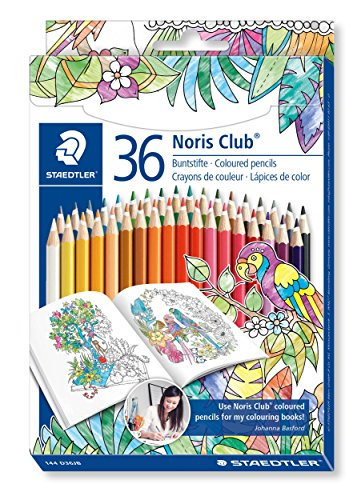 Price comparison product image STAEDTLER Noris Club Colouring Pencils, Johanna Basford Edition, Assorted Colours, Pack of 36
