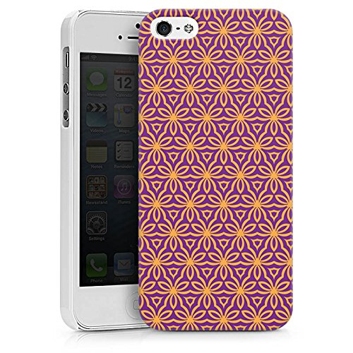 Apple iPhone X Silikon Hülle Case Schutzhülle Blumen Illusion Muster Hard Case weiß