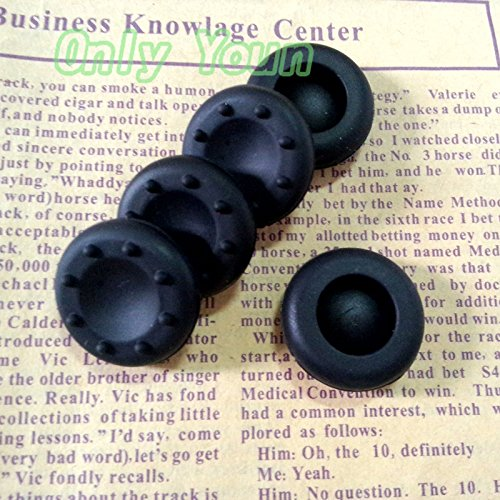 Veena Aipinchun 5Pcs Rubber Silicone Cap Thumbstick Cover Case Joystick Grips For PS4 PS3 XBOX 360 ONE Controller Black Color