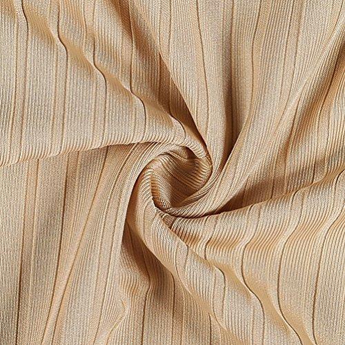 Yiiquan Donna Casuale Camicia Autunno Elegante Maglietta Invernale Camicetta Maglia Maniche Lunghe T Shirt Cachi