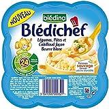 Blédina blédichef légumes pates et cabillaud façon beurre blanc 260g dès 24 mois - ( Prix Unitaire ) - Envoi Rapide...