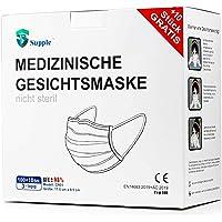 NEU: 100 Stück + 10 Stück GRATIS OP-Mundschutz – TYP IIR (CE Zertifiziert) – Einmal Mundbedeckung (110 Stück Med).