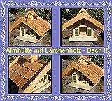 Vogelhaus Vogelhäuser-(V086)-Vogelfutterhaus mit Lärchenholzdach-Vogelhäuschen-aus Holz- Schreinerarbeit