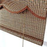 Tende a rullo Paralume in bambù con Paralume a Onde, Paralume a Luce diffusa per Porte/balconi (Dimensioni : 120×220cm)