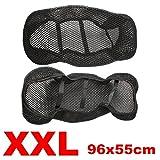 Alamor 3D Motorrad Roller Sitzabdeckung Netz Atmungsaktiver Protektor Schwarz-XXL