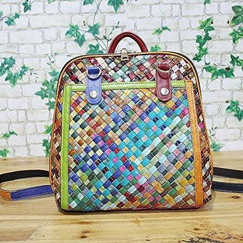 nouveau sac épaule sac en cuir tressé,la couleur