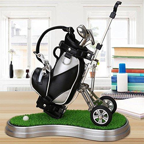 Golf Cadeau Sac de golf Porte-plumes avec stylos effet gazon et Golf Lot de 5pièces de souvenir...