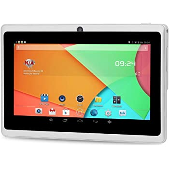 Auntwhale Tablet PC Portátil Portátil Android 4.4 IPS Pantalla WiFi Bluetooth Blanco