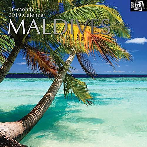 (2019 Wandkalender-2019 Malediven-Kalender, 30 x 30 Zentimeter Monatskalender in Englisch, 16-Monats-, Reise-und Zielthema, 180 Reminder-Sticker)