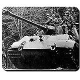 Königstiger mit Fallschirmjägern Wh Panzer Tiger 2 Ardennen Offensive Wk Elite Soldaten Stg44 Deutschland Militär - Mauspad Mousepad Computer Laptop PC #9555