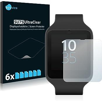 Savvies Pellicola Protettiva Sony Smartwatch 3 SWR50 [6 Pack] Protezione per Schermo