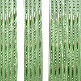 Godagoda Perlen Fadenvorhang Kette Wandvorhang Balkonvorhang Türvorhang Fliegenschutz Fadengardine Raumteiler mit Quaste 100x200cm Grasgrün