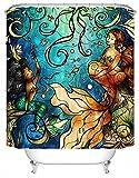 DAFENP Duschvorhang Waschbar Wasserdichter Anti-Schimmel,Duschvorhang inkl.8 Kunststoffhakens,Duschvorhang Polyester (180cm x 180cm,Eine Vielzahl von Mustern) (style24)