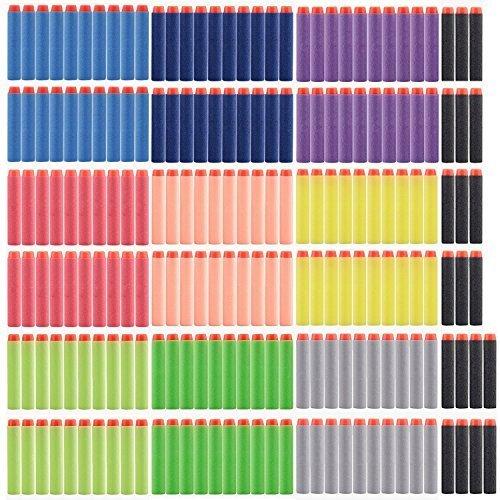 alwayswish-200pcs-10-diffrents-flchettes-couleur-72cm-recharge-bullet-pour-n-strike-elite-series-bla
