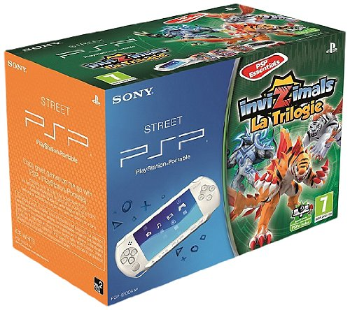 Console PSP Street Blanche + InviZimals : Triple Pack InviZimals Essentials + Caméra