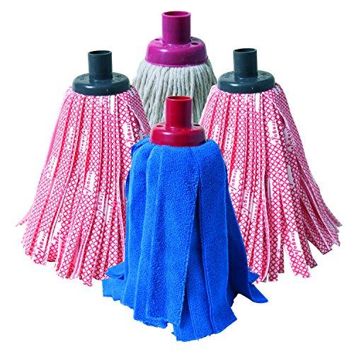 Fregola Pack de Mopas, Tejido sintético, Microfibra y algodón, Varios, 35x28x8 cm, 4 Unidades