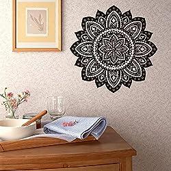 gossipboy-Adorno adhesivo para pared (vinilo), diseño de patrón de mandala Mantra Mandala de flores de flor de loto (57x 57cm)-inspirado Pared Arte Decal Mural para decoración del hogar