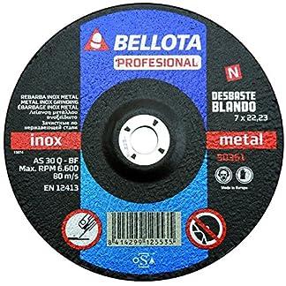 Bellota 50361-230 DISCO ABRASIVO PROFESIONAL DESBASTE INOX-METAL BLANDO 230MM