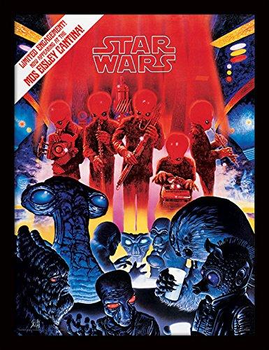 Pyramid International Star Wars (Mos Eisley Cantina) 30x40 cm gerahmter Druck, 250GSM PAPERWRAP MDF, Mehrfarbig, 44 x 33 x 4 cm