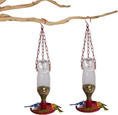 DIY- Set of 2 Bird Feeders| Make Your Own Bird Feeder from Used Plastic Bottles | Great Way to Up-Cycle Plastic Bottles to Bird Feeder