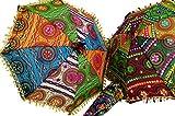 Bunter Baumwoll-Sonnenschirm aus Indien / Sonnen- & Regenschirme - Größe: groß (75*72)