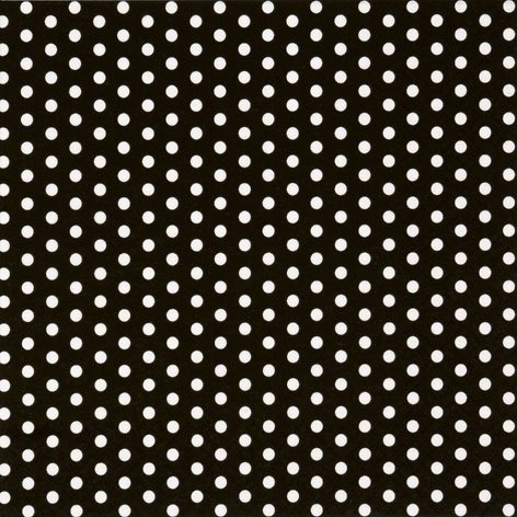 Black with White Polka Dot Party Lunch Napkins x 20 by Polka Dots