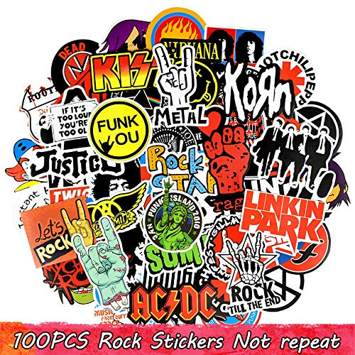 Sticker Music Retro Band Graffiti JDM Stickers to DIY Guitar Motorrad Laptop-labächer Skateboard Car Snowboard ()