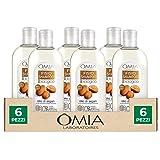 Omia, Fisio Shampoo Nutriente e Lisciante per Capelli Secchi e Crespi e Cuoio Capelluto Delicato, Ecobio Olio di Argan - 6 Co