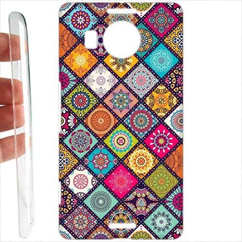 Tuttoinunclick custodia cover rigida per microsoft nokia lumia 950 xl - 759 texture