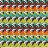 ABAKUHAUS Gitarre Stoff als Meterware, Abstrakte Farben