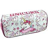 Unicorno Astuccio Portamatite Grande - Durevole Pencil Case con Cerniere Zip, Astuccio Scuola per Bambini Ragazze, Caso Matit