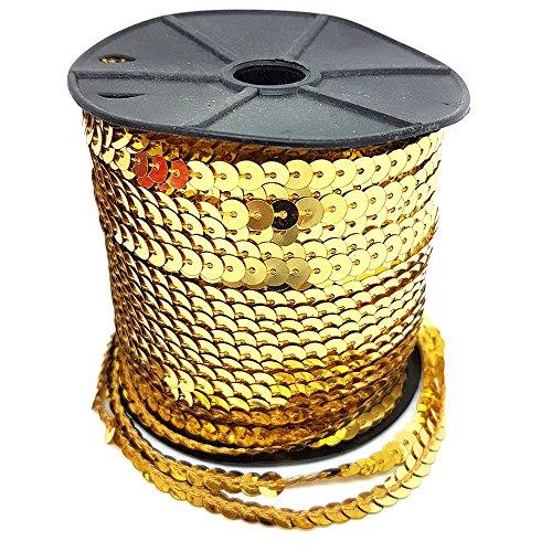Design Gold Trim (100Yard Pailletten Trim Trimmen Verzierung Spitze Dekoration Kleid Design 5mm Gold Silber Grün Rot Grün von Zubehör Dachboden® gold)