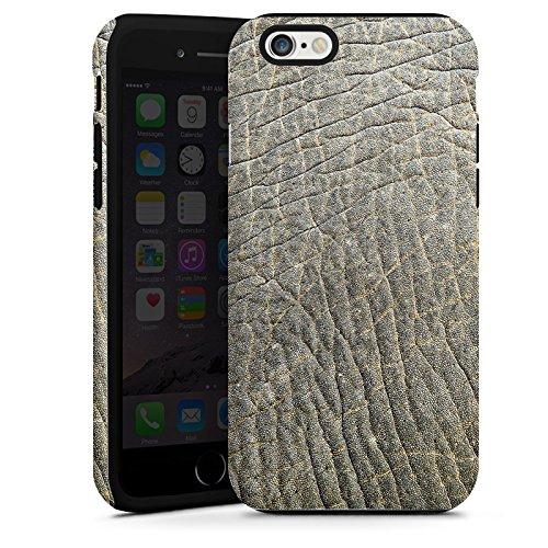 Apple iPhone 4 Housse Étui Silicone Coque Protection Look peau d'éléphant Motif peau d'animal Structure Cas Tough terne