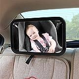 ZUOAO Bébé Rétroviseur Arrière Siège d'auto - Miroir de Sécurité pour Bébé 360° Réglable - Plus Grande Surface de Vue - Miroirs Auto Bébés Facile à Installer et Compatible avec Tous les Véhicules