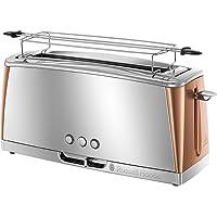 Russell Hobbs 24310-56 Toaster Grille-Pain Luna, Spécial Baguette, Cuisson Rapide, Chauffe Viennoiserie - Cuivre