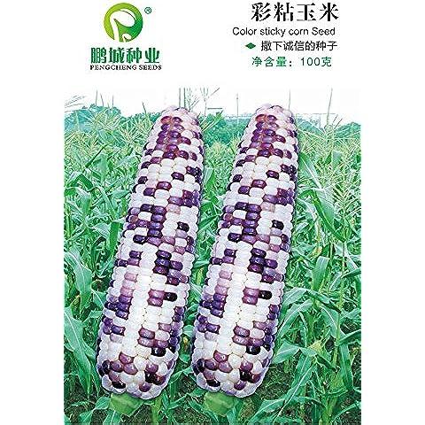 Il grano imballo originale a colori appiccicose semi di mais colorato dolce delizioso 100 grammi / bag