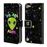 Head Case Designs We Are Alive Alien Brieftasche Handyhülle aus Leder für iPod Touch 5th Gen / 6th Gen