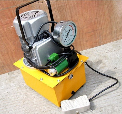 Gowe Pompe à moteur hydraulique haute pression Pompe hydraulique électrique manuel Pompe hydraulique électrique Pompe à huile pression Capacité 0,6–4L/min