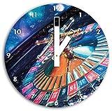 tavolo da roulette effetto matita arte, orologio da parete diametro 30 centimetri con il nero squadrate le mani e il viso, oggetti decorativi, design orologio, composito di alluminio molto bello per soggiorno, studio