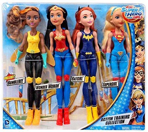 Preisvergleich Produktbild DC Comics DC Super Hero Girls Action Training Collection 11-Inch Doll 4-Pack [Bumble Bee,  Wonder Woman,  Batgirl & Supergirl]