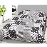 JEMIDI Tagesdecke Bett und Sofaüberwurf gesteppt 220cm x 240cm Überwurf Tagesdecke Sofa Couch Decke Husse Überwürfe Steppdecke XL XXL (Design 24)