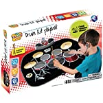 Denny International Children Kids Electronic Drum Kit Stick Musical Touch Playmat Toy for Fun & Drumming Play Sound Music MP3