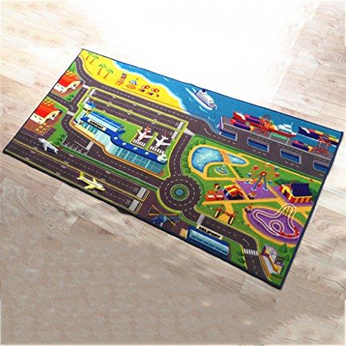 DSADDSD *Wohnzimmer teppiche Kinder Teppich Auto Track Teppiche Kind Schlafzimmer Teppich Kriechende Matte (80 * 16 cm) * Geometrischer Teppich (Farbe : B, größe : 80 * 160cm)