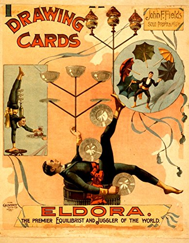 eldora-the-premier-equilibrist-and-juggler-of-the-world-a4-glossy-vintage-magicians-poster-art-print
