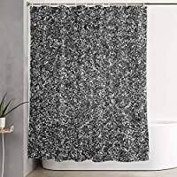 Setyserytu Silver Flake Glitter Shower Curtain Liner 70x70 inches Waterproof Fabric Shower Curtains with Hooks Bathroom Sets for Home Hotel Decor