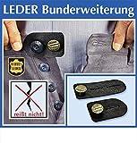 2er Hosenknopfverlängerung Hosenbunderweiterung LEDER f Umstandshose Umstandskleidung
